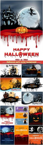 Halloween party vector background
