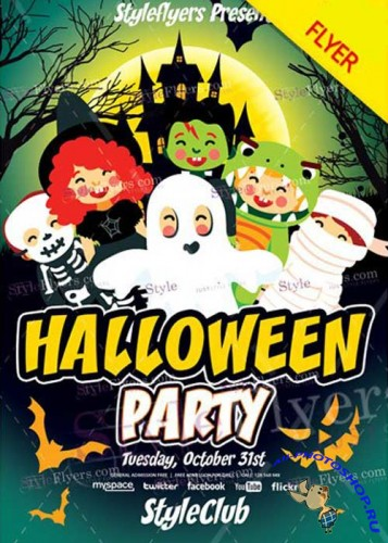 Kids Halloween Party 2017 V15 PSD Flyer Template
