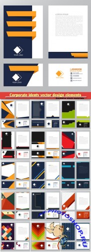 Corporate identy vector design elements