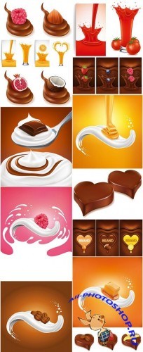 Different Food Design Elements #2 - 15 Vector