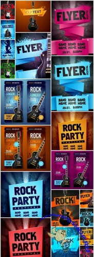 Rock Party Flyer - 20 Vector