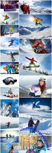 Snowboarders Leisure - 20 HQ Images