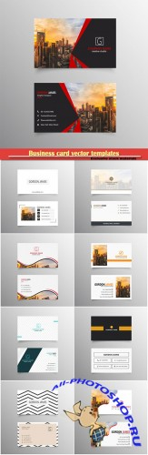 Business card vector templates # 30