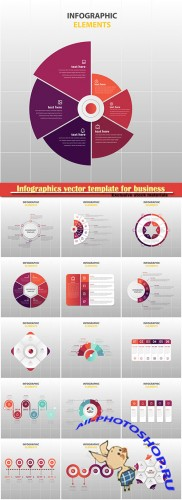 Infographics vector template for business presentations or information banner # 15