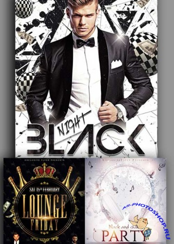 Vip Lounge Flyers 3in1 Flyer Template V5
