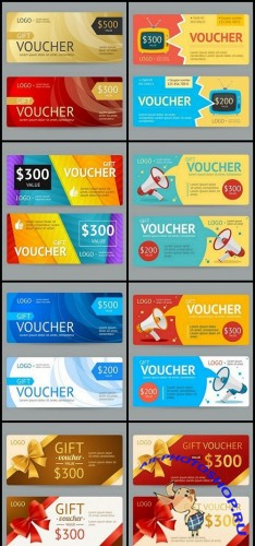 Gift Voucher Collection #21 - 8 Vector