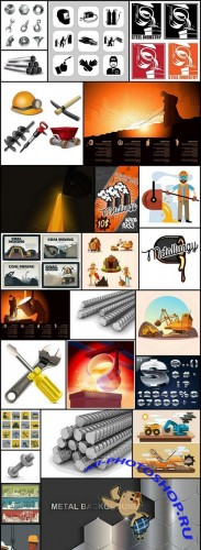 Steel Metal Industry - 25 Vector