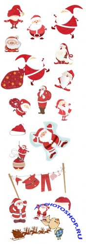 Xmas Super Premium Winter Elements - Christmas vector santa V1