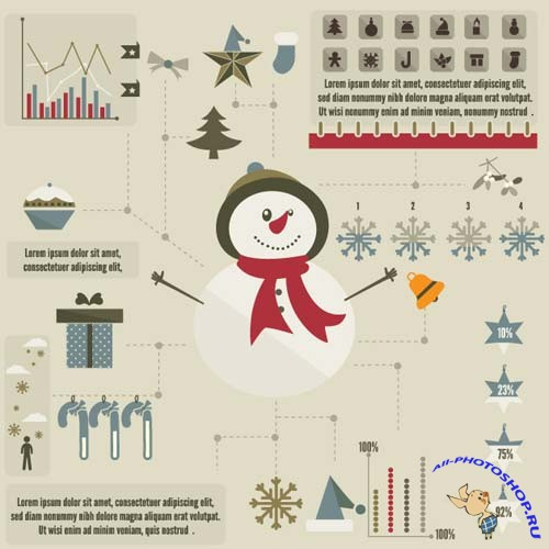 Super premium  Infographic - Christmas - Stock Vector