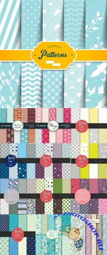 Seamless Pattern Collection - 25 Vector