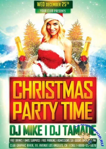 Christmas Party Time V1 2017 Flyer Template