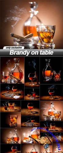 Brandy on table - 20 UHQ JPEG