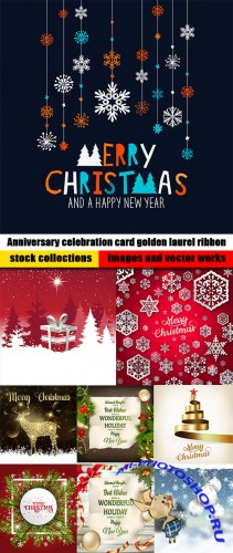 Merry Christmas and New Year collection design 7