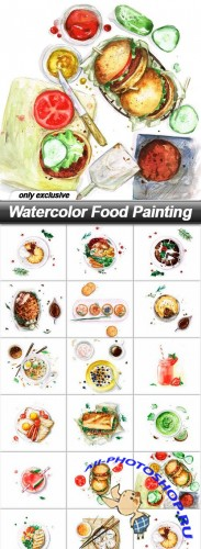 Watercolor Food Painting - 17 UHQ JPEG