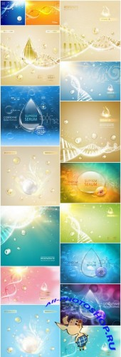 Molecule Dna Background - 16 Vector