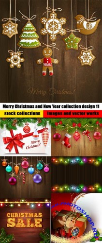 Merry Christmas and New Year collection design 11