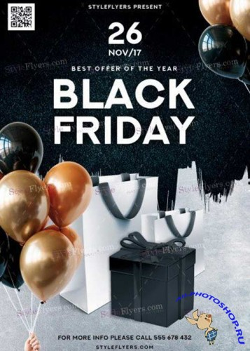 Black Friday V11 2018 PSD Flyer Template