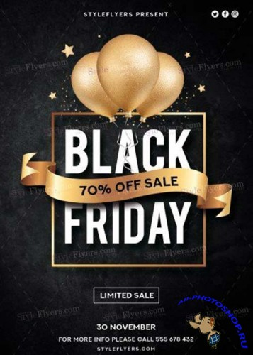 Black Friday Sale V12 PSD Flyer Template