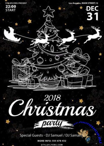 Christmas V14 2018 PSD Flyer Template