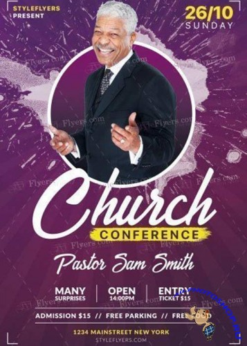 Church Conference V11 2017 PSD Flyer Template