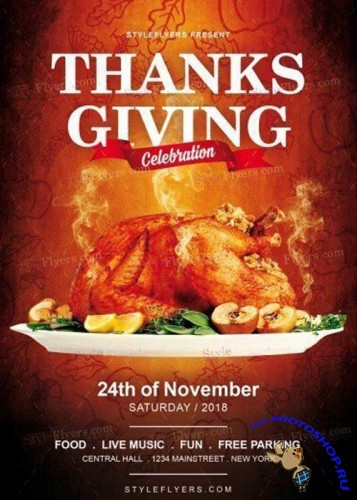 Thanksgiving Day V20 2017 PSD Flyer Template