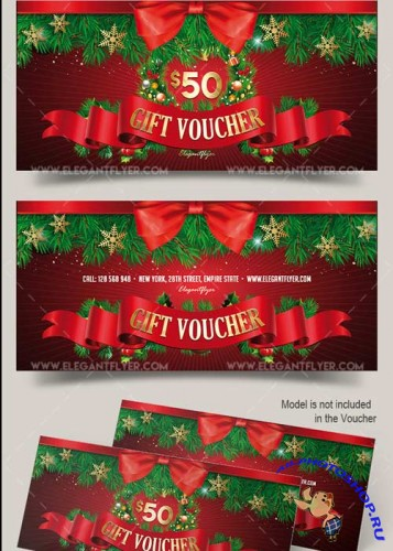 Christmas V3 2017 Premium Gift Certificate PSD Template