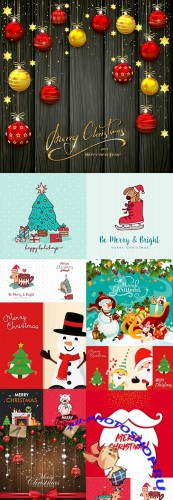 Christmas and New Year holiday collection elements 3