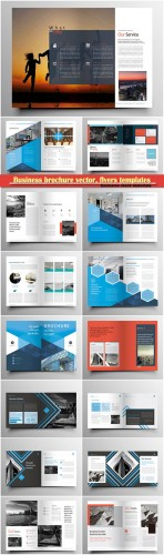 Business brochure vector, flyers templates, report cover design # 83
