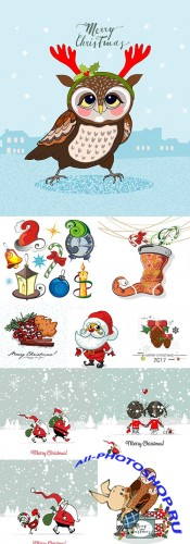 Merry Christmas and New Year collection design 23