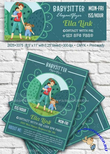 Babysitter V43 Flyer PSD Template + Facebook Cover