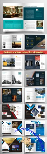 Business brochure vector, flyers templates, report cover design # 93