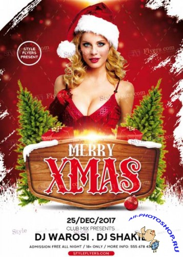 Merry Christmas V39 2017 PSD Flyer Template