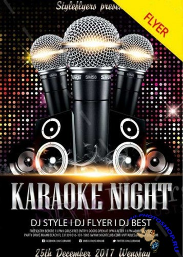 Karaoke Night V29 2017 Flyer PSD Template