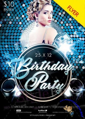 Birthday Party V30 2017 Flyer PSD Template