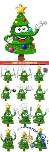 Vector cute Christmas tree