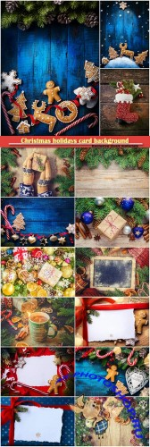 Christmas holidays card background