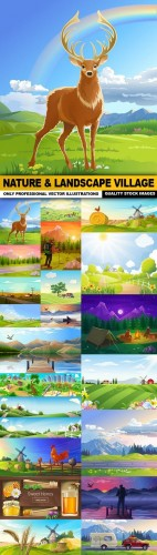 Nature & Landscape Village - 25 Vector