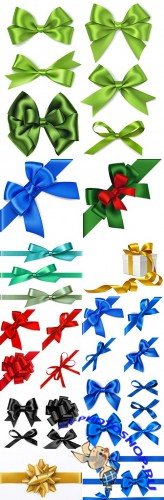 Decorative bow collection bright and color design