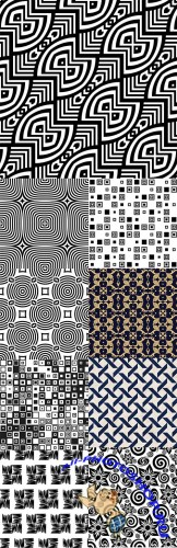 Modern abstract geometry seamless pattern design 19