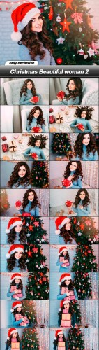 Christmas Beautiful woman 2 - 20 UHQ JPEG