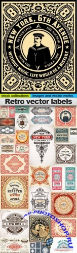Retro Vector Labels 25xEPS