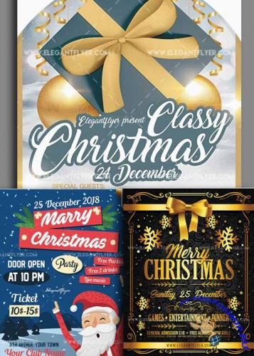 Christmas Flyer V15 3in1 Flyer Template