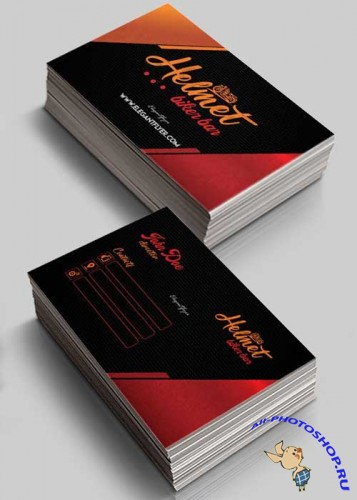 Biker Bar V1 Business Card Templates PSD