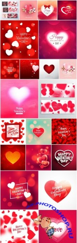 Happy Valentines Day Background #11 - 22 Vector
