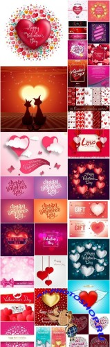 Happy Valentines Day Background #14 - 30 Vector