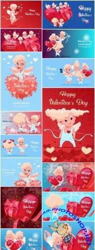 Valentine Day Cute Illustration - 15 Vector