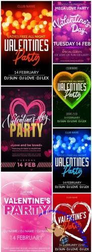 Valentine Party Poster - 7 Vector