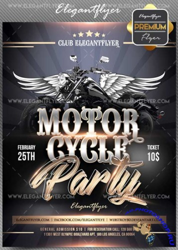 Motorcycle party V01 2018 Flyer PSD Template + Facebook Cover