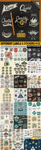 Different Labels & Stickers #122 - 25 Vector