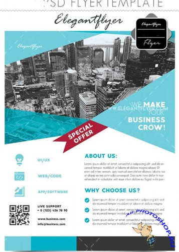 Business V2 2018 Flyer PSD Template + Facebook Cover